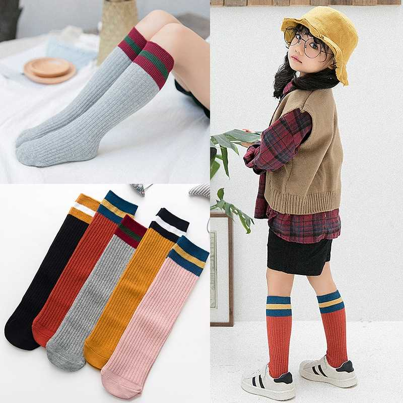 e8ede0d00 Detail Feedback Questions about 5 Pairs baby infant toddler bebe kids  children girl boy knee high socks 7 8 ribbed stockings striped school  sports 80% ...