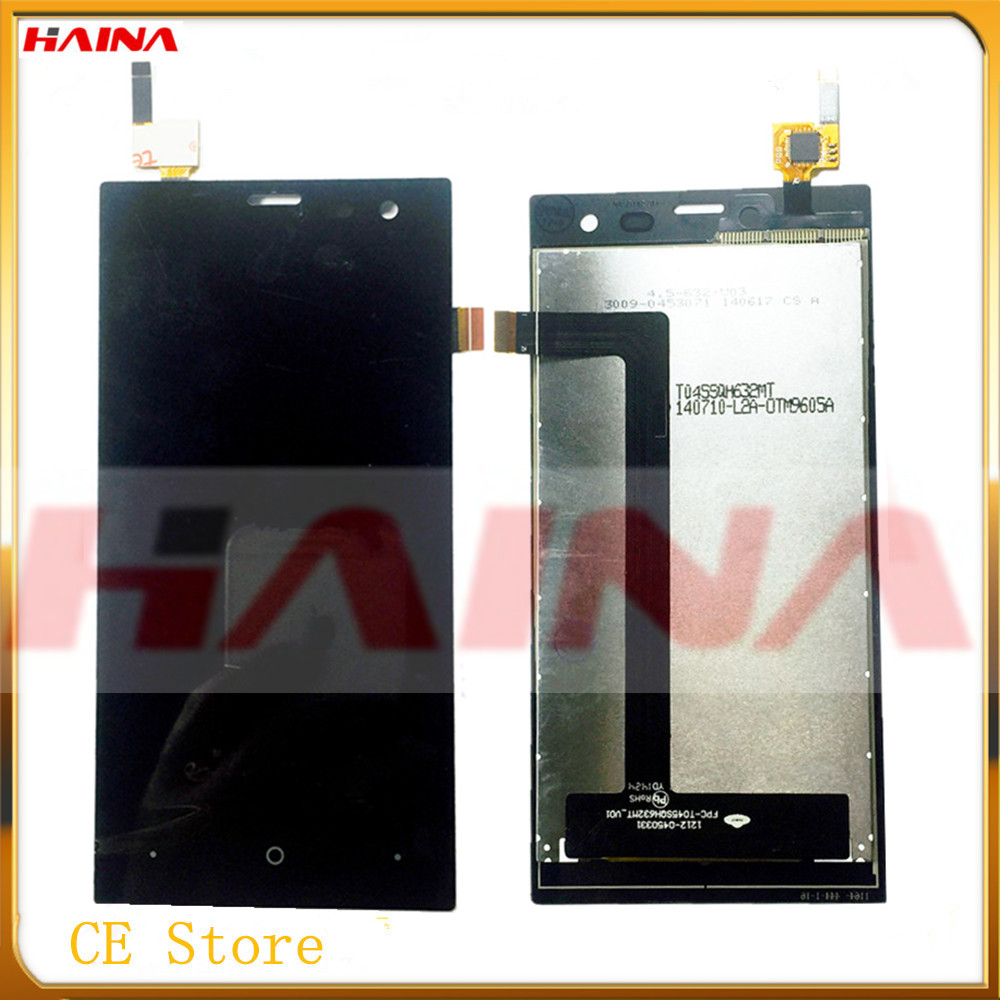 <font><b>4.5</b></font> <font><b>inch</b></font> High Quality For highscreen Zera S Rev.S <font><b>LCD</b></font> Display Assembly <font><b>with</b></font> 3M Sticker+Tested <font><b>Touch</b></font> <font><b>LCD</b></font> Display +Tracking number image