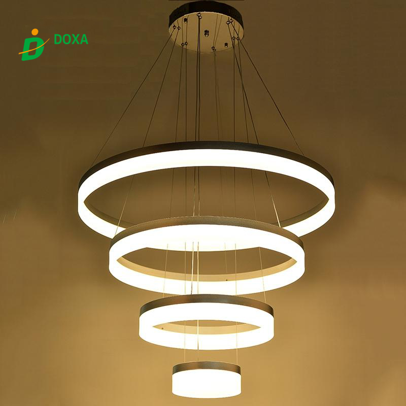 2017 NEW Dimmable LED Ring Light Fixture Acrylic Pendant Light ...