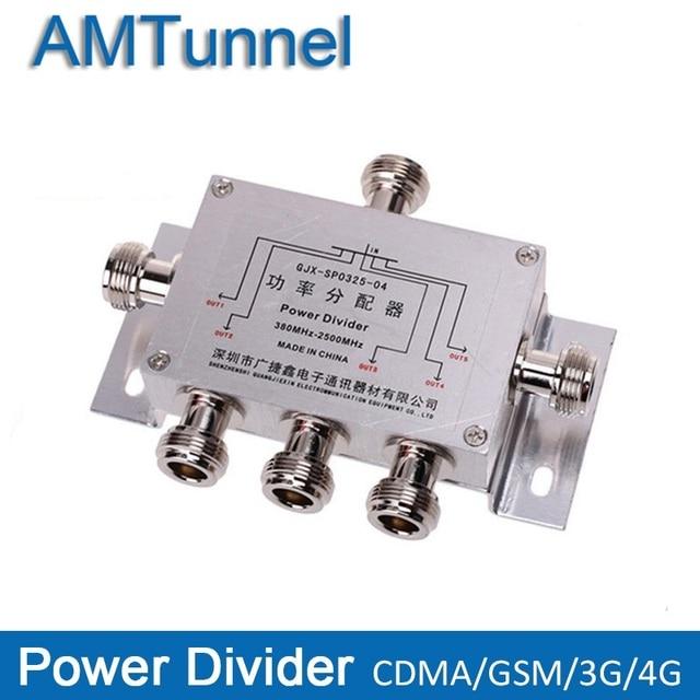 Điện Splitter Divider 5 Cách Khoang N loại 380-2500 MHz Cho 3G CDMA GSM Điện Thoại Di Động Tín Hiệu booster Repeater và antenna