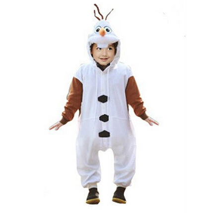 Infant Olaf Costume | Olaf Romper Anime Animal Onesie For Kids Baby Children Halloween Christmas Party Girl Boy Flannel Cosplay Costume Pajamas