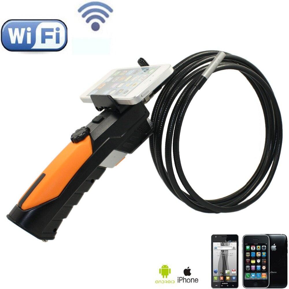 D'endoscope WIFI Caméra D'inspection Vidéo 8.5mm Endoscope 6 LED HD 720 p 3 m Câble IP67