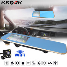 4.3 Wifi Car Dvrs Full HD 1080P Rear View Mirror With Dual Lens Camera Night Vision Dash Cam Automotive Out Video Recorder
