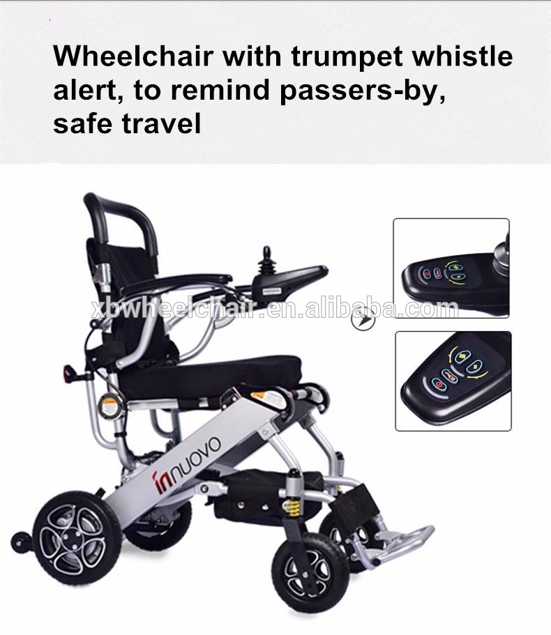 Lightweight portable travel aluminum alloy foldable electric wheelchair 1