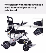 Lightweight portable travel aluminum alloy foldable electric wheelchair