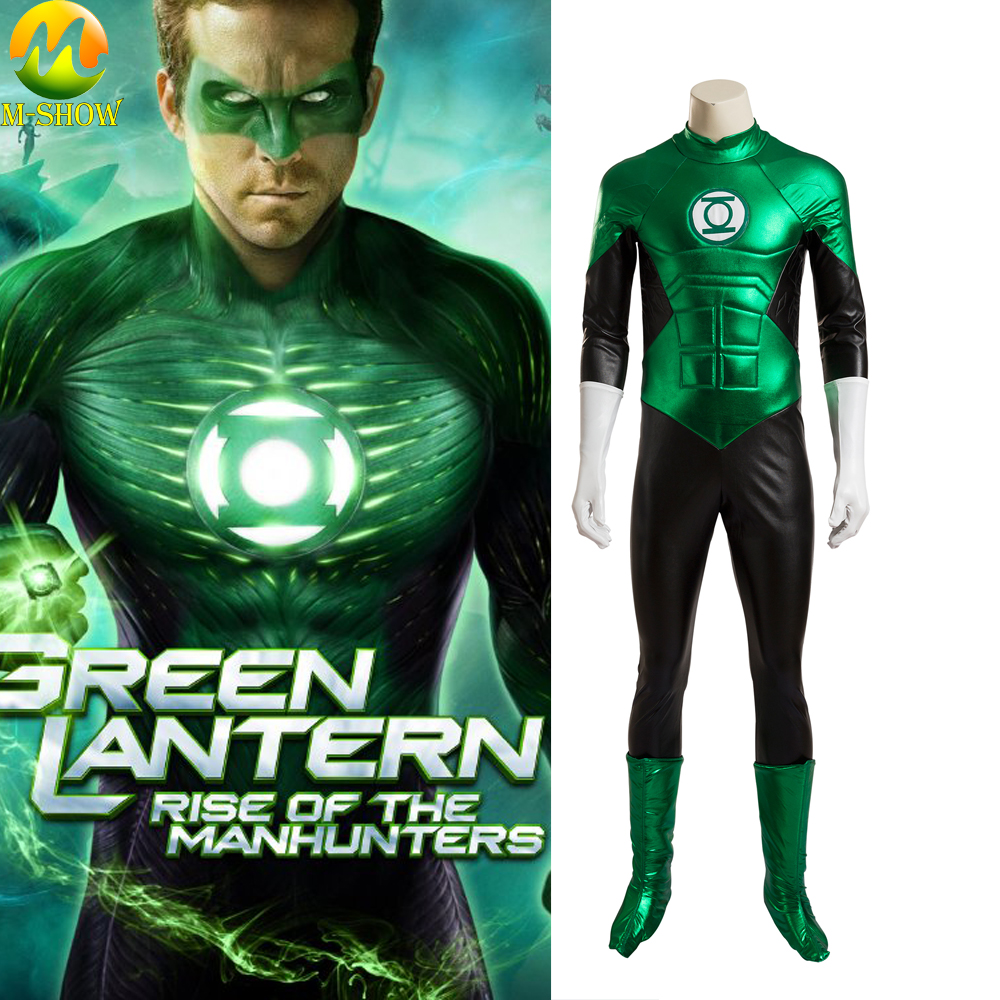 Green Lantern Cosplay Costume Hal Jordan Cosplay Outfit Full Set Halloween Costumes For Men Jumpsuit Custom Made