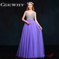 Ceewhy Элегантные линии платье для выпускного вечера Sexy v образным вырезом Праздничное платье Винтаж вечернее платье длинное вечернее торжест