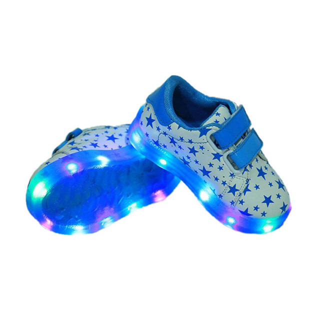 cute baby causal LED shoes sneaker stars night lighted toddler shoes for 1-3yrs babies infant boys girls flash outdoor shoes hot