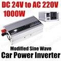 Frete grátis porta USB transformador de tensão de carro Automático de Potência Do Inversor Conversor 24 V DC para AC 220 V 1000 W modificado Onda Senoidal