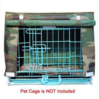 Durable Solid Waterproof Oxford Dog House Crate Cover Breathable Kennel Blanket For Wire Crate Dogs Cage 7 Color Available