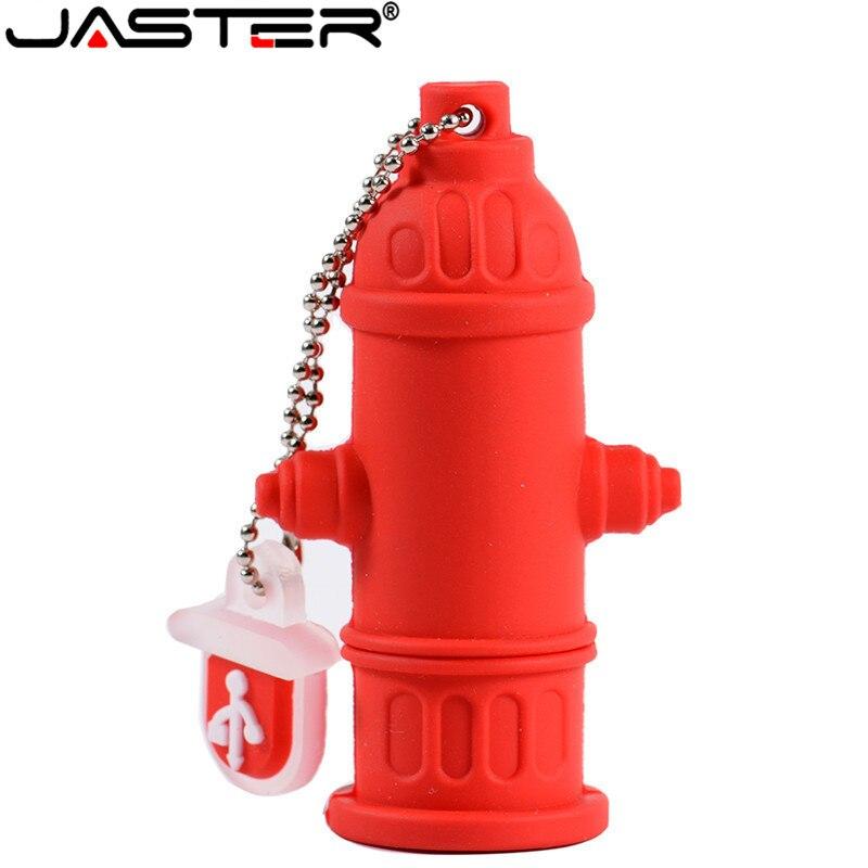 JASTER USB 2.0 Flash Drive Cartoon Fire Hydrant Pen Drive 4GB 8GB 16GB 32GB 64GB Cute Memory Stick Creative Gift  Usb Stick