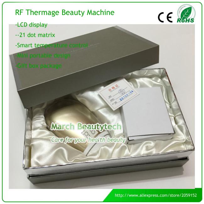 Rf portátil Facial Radio frecuencia masajeador cuidado de la piel cara sin aguja mesoterapia Thermage papada eliminar dispositivo de belleza