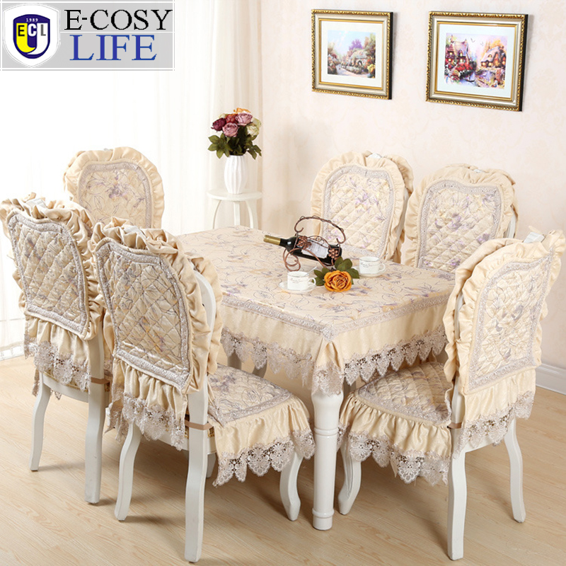 Blue Chenille Table Cloth Rectangular Fashion Home Decor Kitchen Tablecloths And Chair Covers Dining Table Chair