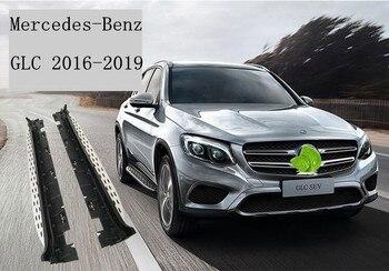 Auto In lega di Alluminio + ABS Corsa e Jogging Bordo Passo Laterale Nerf Bar Della Protezione Adatto Per Mercedes-Benz GLC200 GLC260 GLC300 2016 2017 2018 2019