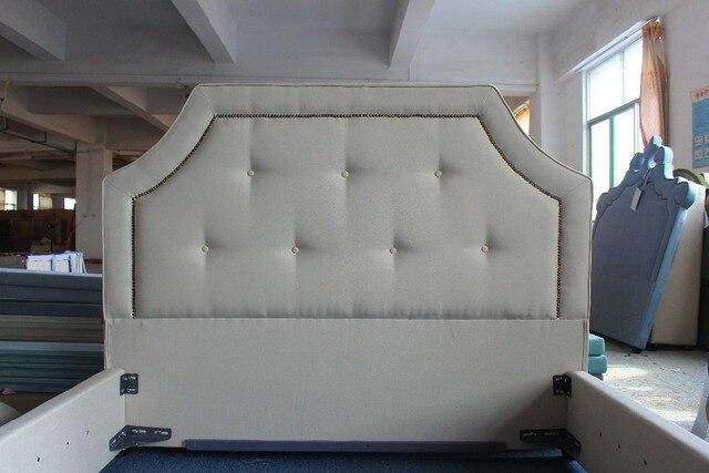 Lino blanco cama muebles de americana de estilo simple de tela para ...