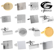 Free Shipping Laser Cufflinks Silver Color Engravable Series Laser Engraved Check Sudoku Design Men Copper Cuff Links Wholesale cheap Tie Clips Cufflinks Fashion Classic Simulated-pearl Metal Square igame as images brand new Anniversary Engagement Gift Party Wedding Other