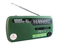 Free Shipping DEGEN DE13 FM AM SW Crank Dynamo Solar Power Emergency Radio A0798A World Receiver