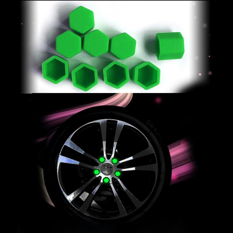 20pcs Silica Wheel Nuts Covers Protective Bolt Caps Hub Screw 19 # For Hyundai IX25 IX35 Elantra  New Tucson Sonata Elantra