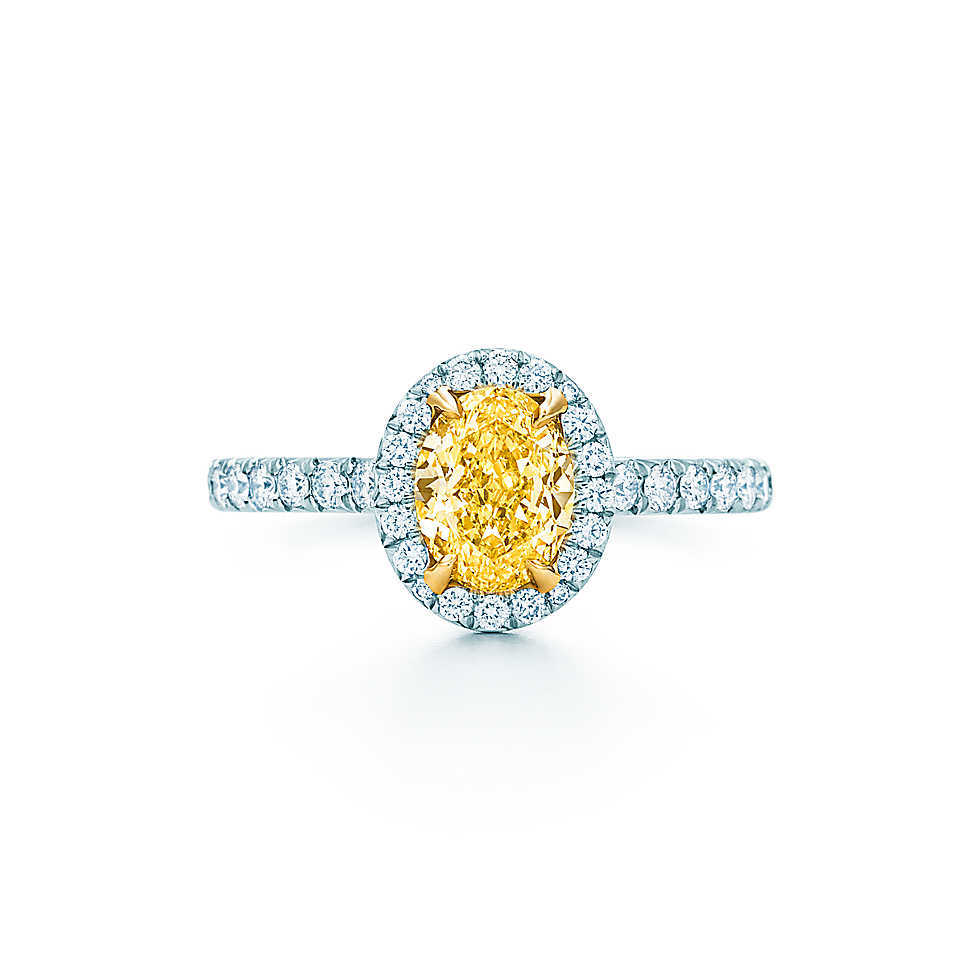 1Ct 6 8mm Yellow Oval Cut Stone Diamond Ring 925 Sterling Silver Ring Fine Jewelry Valentine