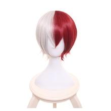 Boku no Hiro Akademia Todoroki Shouto short wig My Hero Academia Shoto Todoroki White And Red Cosplay Wig+Wig Cap