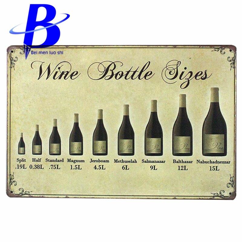 Wine bottle signs Metal Tin Signs Plates Wall Art Craft Iron Retro ...