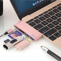 WIWU 5 In 1 USB Hub 3 0 Type C For MacBook New 12 USB Splitter