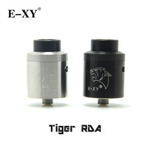 E-XY Tiger RDA Atomizer with Four Post Build Deck Top Side Diagonal Airflow Single & Dual Coil Buildings Tank For 510 Mod