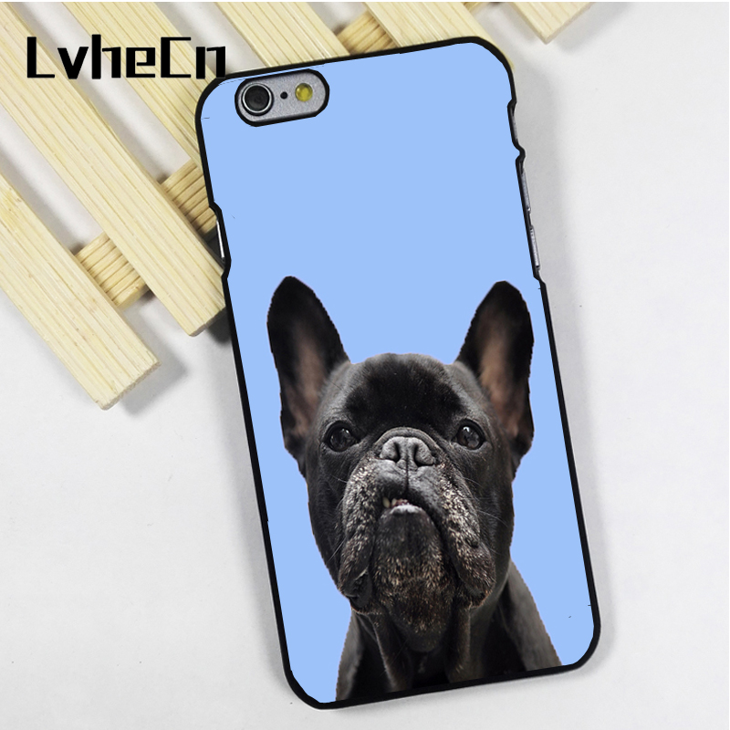 Lvhecn Телефон чехол для iPhone 4 4S 5 5S 5C SE 6 6S 7 8 Plus X Ipod Touch 4 5 6 Французский бульдог frenchie синий