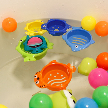 6Pcs/set Baby Float Water Classic Bathing Swimming Educational Toys for Children Plastic Fish Animal Funny Game for the Bathroom