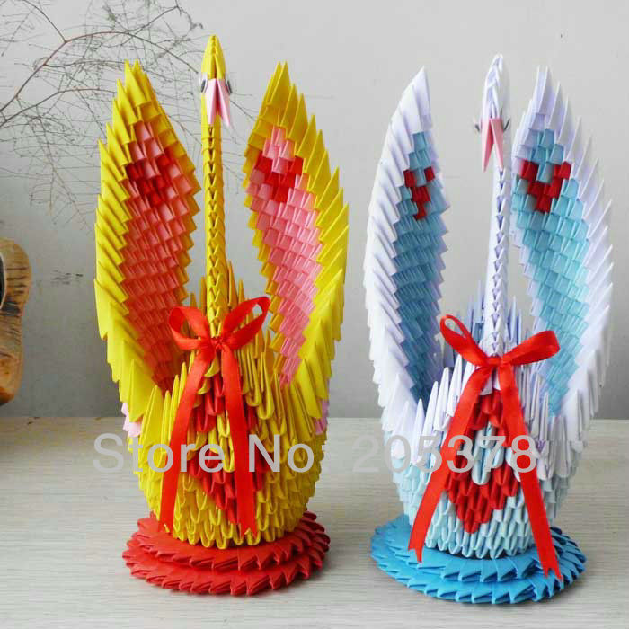 3D Origami Swan Handmade Paper Beutiful Gifts For Gids Diy Unique Gift Birthday Animal Desgin On Aliexpress