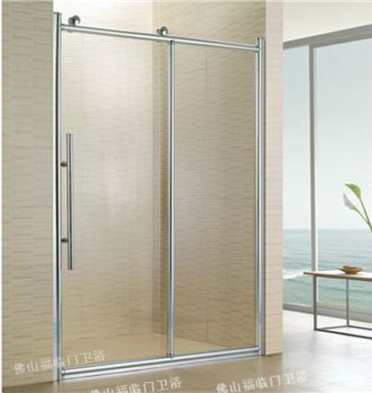 Silent Big Pulley Bathroom Glass Partition Shower Screen Fortune Oil - Cost of bathroom glass partition