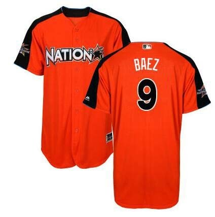 MLB Mens National League Javier Baez Orange 2017 All-Star Game Authentic Home Run Derby Jersey ...
