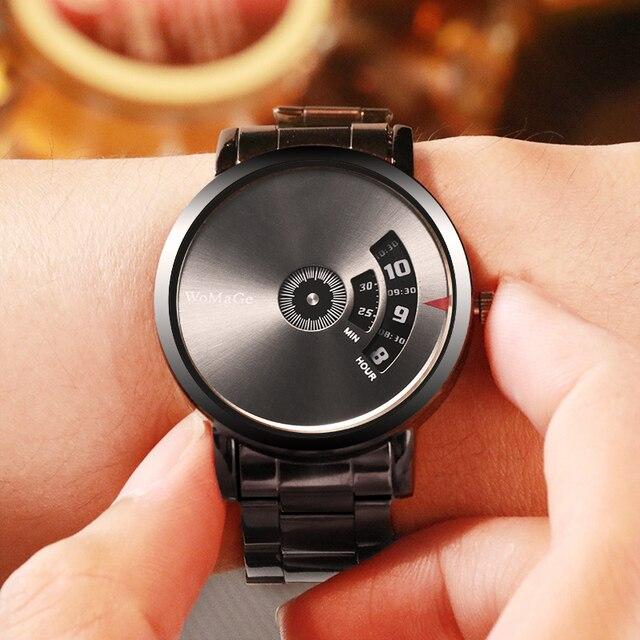 Black Stainless Steel Quatrz Watches Men 4