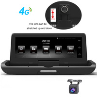 4G 7.84'' Car DVR Holder Dash Cam 3G Android WiFi Bluetooth GPS Navigator Dual Lens Car Video Recorder Rearview Car Camera