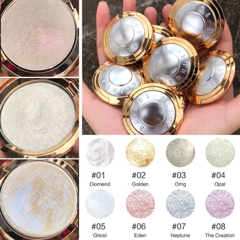 Highlighter Palette Makeup Face Contour Shimmer Powder Body Base Illuminator Facial Highlight Cosmetic Brighten Glitter недорого