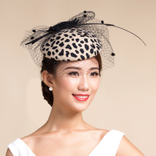 Vogue Show Party leopard Fedora Top Hat For Women Elegant Ladies Pure Wool leopard Printing Bowler Winter Cap Free Size