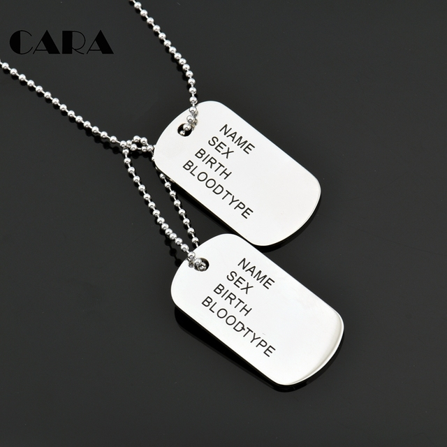 2018 NEW ARRIVAL Men Jewelry 2pcs Dog Tag Pendant Necklaces 316L Stainless  Steel Pendants Military Army 0bc005249cd