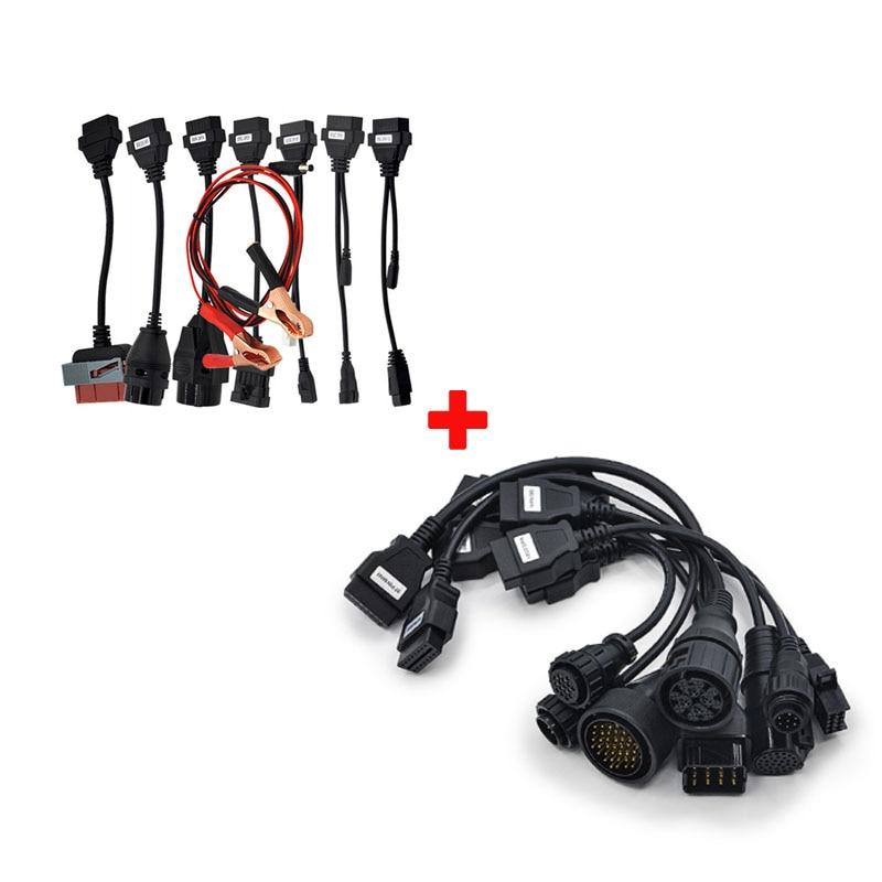 Prix pour [8 câbles de voiture + 8 camions câbles] Ensemble complet Câbles pour Auto CDP Pro Com Tcs Scanner OBD2 Câbles Montages Économiques