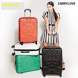 CARRYLOVE dei bagagli di affari serie 19/25/28 pollici formato di Alta qualità di business High-end ABS Trolley Spinner di marca