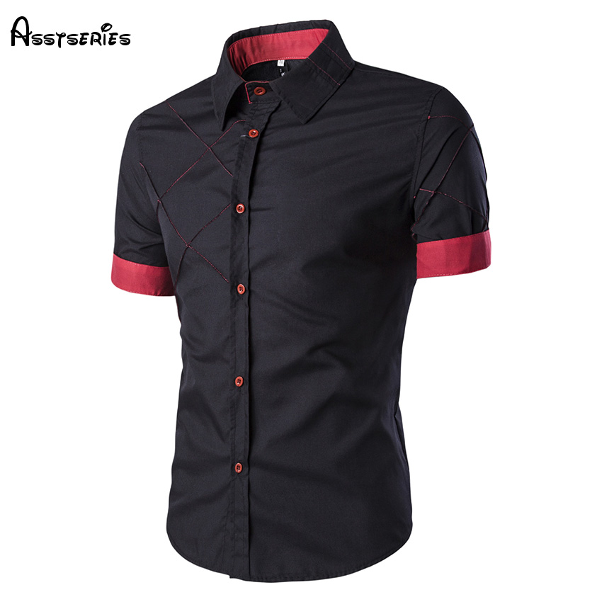 2018 Free Shipping Mens Design Shirt Fashion Short Sleeved Shirt Casual Shirts Summer Co ...