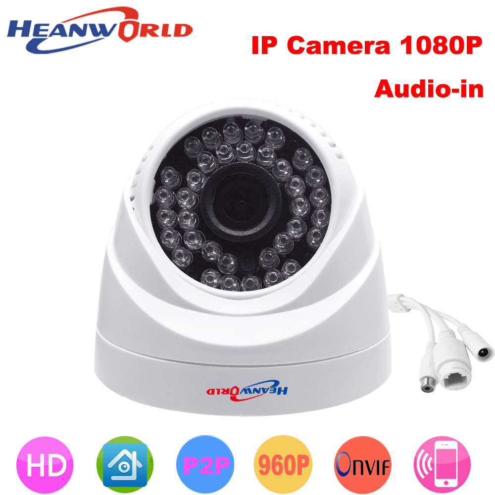 HD dome camera 1080P mini 2.0MP IP Camera with audio Night Vision ONVIF CCTV Security Camera Network IP Cam for home indoor use audio hd 960p 1 3mp plastic indoor dome ip camera security network onvif p2p pickup
