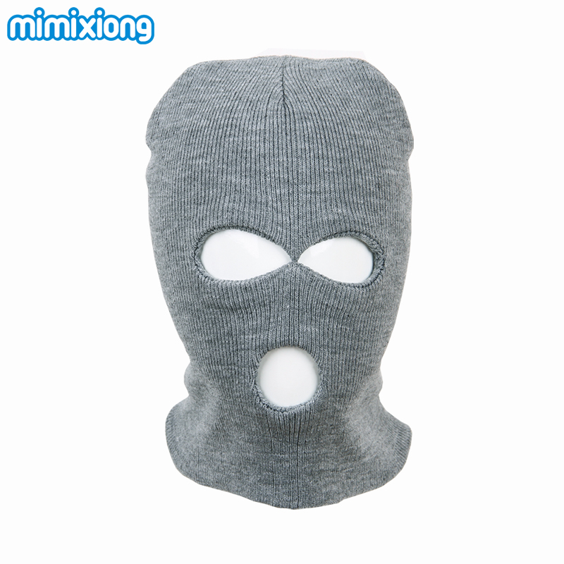 Black Childs Balaclava Knitting Pattern Baby Boy Winter Face Mask