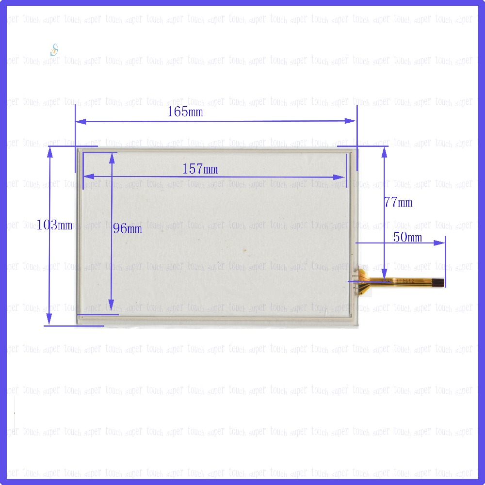 ZhiYuSun 7inch Touch Screen 165mm*103mm 4 wire resistive FOR TABLE for laptop 165*103the touchglass compatible