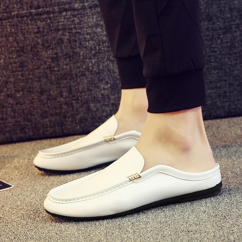 Sans Mocassins D'été Mode Pour Lacets Conduite De Noir Plat blanc orange Chaussures Solide Loisirs Hommes Décontracté 8vqExvR
