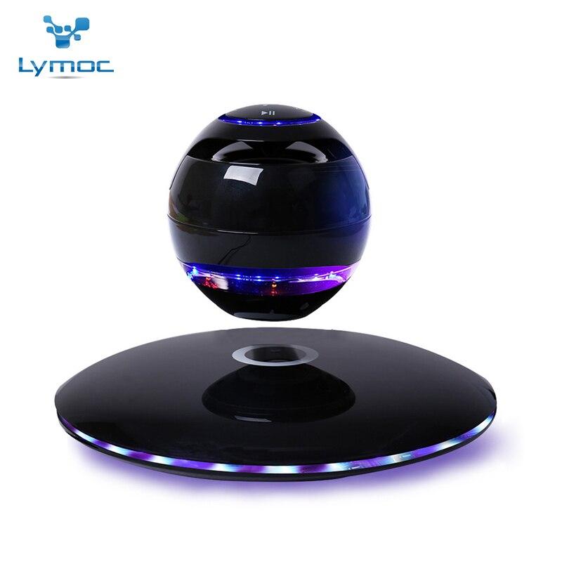 LYMOC Nova Levitação Magnética Do Bluetooth Falantes Sem Fio Bluetooth Subwoofer 7 Cores Moda Separado de Rotação para Todo o Telefone