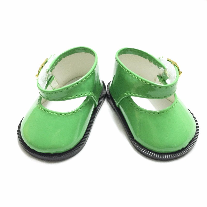 Best sweet girl Gift Many new styles green yellow shoes for American girl doll party