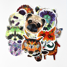 35 Pcs/lot  Waterproof Galaxy Color Animal Stickers For Snowboard Laptop Luggage Car Fridge Bicycles Backpack Notebook Pegatinas