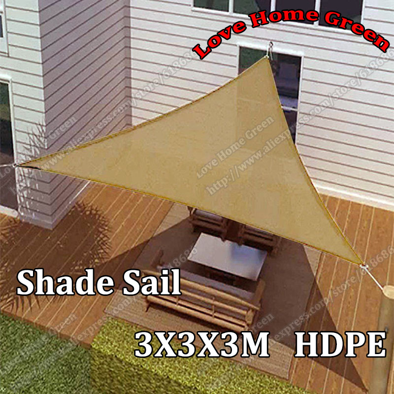 New sun shade net combination shade sail garden awning for Shade sail cost