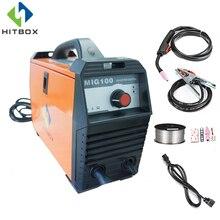 hot deal buy hitbox mig no gas welder 110v mig100a mag welders iron steel welding equipment mig mag welding machine portable welder