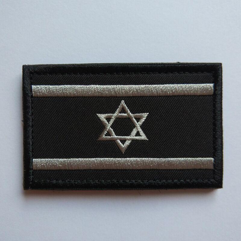 HTB1PDLXCH1YBuNjSszeq6yblFXaX 1pcs Embroidery Israel Flag Brassard Skull Tactical Patch Cloth Punisher Armband Army Hook And Loop Emblem Morale Combat Badge